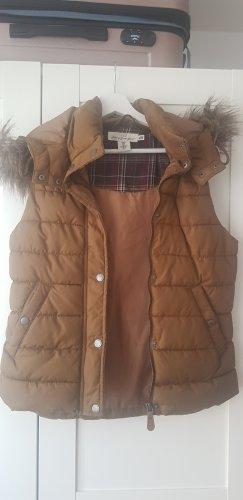 H&M Fake Fur Vest brown