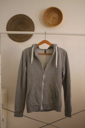 H&M Basic Hooded Vest silver-colored