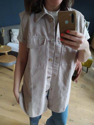 H&M Weste Denim Denimweste Jeansweste Jeans Pastell