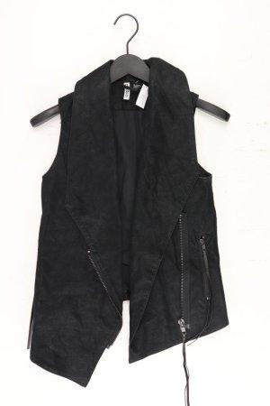 H&M Weste Größe 34 schwarz aus Viskose