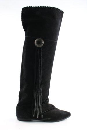 H&M Botas estilo vaquero negro look casual