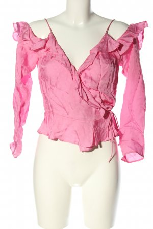 H&M Wickel-Bluse pink Casual-Look