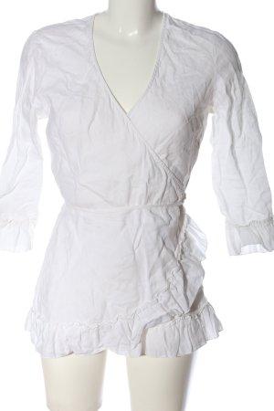 H&M Wickel-Bluse weiß Casual-Look
