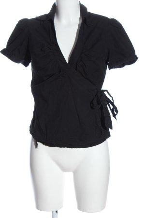 H&M Wickel-Bluse schwarz Casual-Look