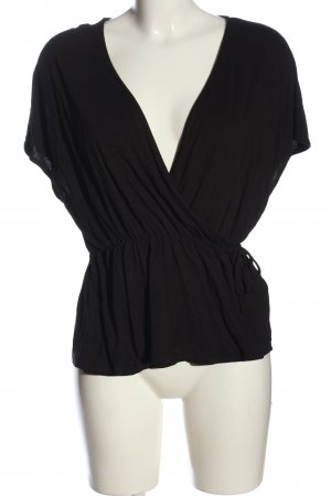 H&M Wickel-Bluse schwarz Casual-Look