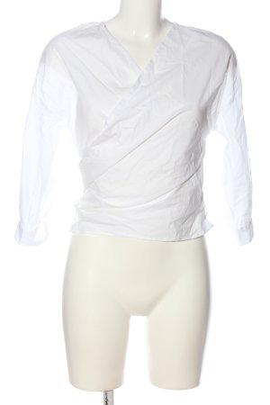 H&M Wraparound Blouse white business style
