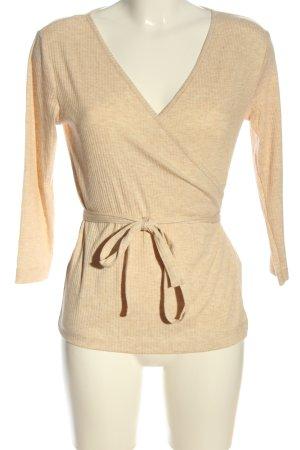 H&M Kopertowa bluzka kremowy W stylu casual