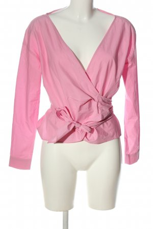H&M Wickel-Bluse pink Business-Look