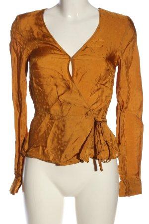 H&M Wickel-Bluse hellorange abstraktes Muster Casual-Look