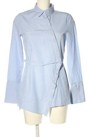 H&M Wickel-Bluse blau-weiß Allover-Druck Business-Look