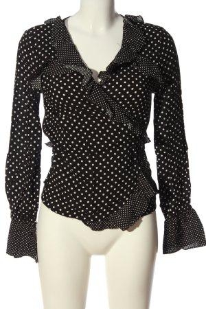 H&M Wickel-Bluse schwarz-weiß Punktemuster Casual-Look