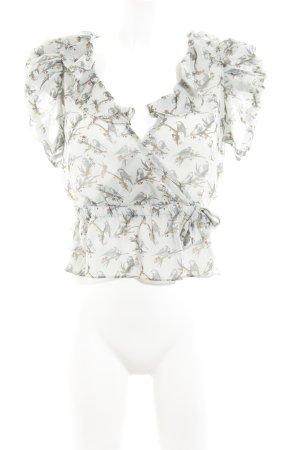 H&M Wickel-Bluse blassblau-graublau Casual-Look