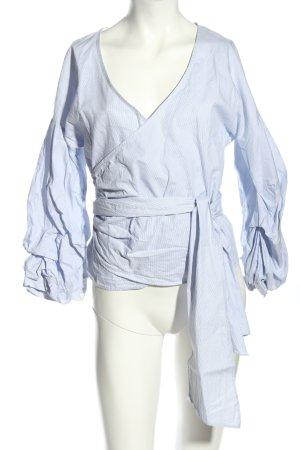 H&M Wickel-Bluse blau Casual-Look