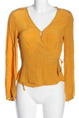H&M Kopertowa bluzka jasny pomarańczowy Wzór w kropki Elegancki