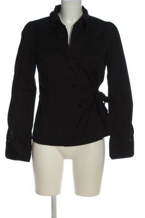 H&M Kopertowa bluzka czarny W stylu biznesowym