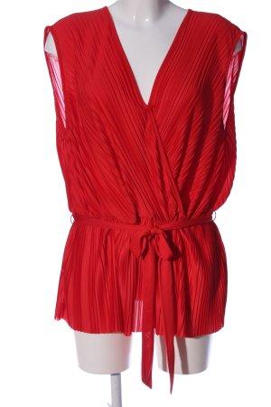 H&M Wikkelblouse rood zakelijke stijl