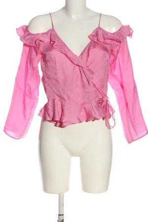 H&M Kopertowa bluzka różowy W stylu casual