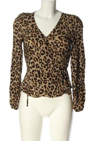 H&M Wikkelblouse luipaardprint casual uitstraling