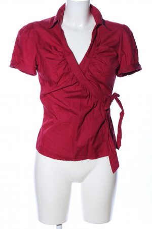 H&M Wickel-Bluse rot Casual-Look
