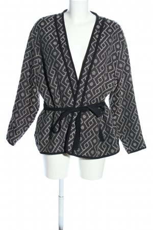 H&M Wraparound Jacket natural white-black allover print casual look
