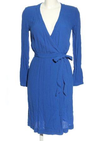 H&M Wickelkleid blau Business-Look