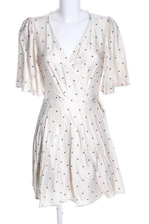 H&M Wraparound natural white-black allover print elegant