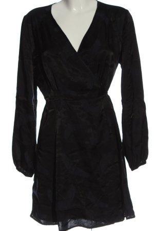 H&M Kopertowa sukienka czarny W stylu casual