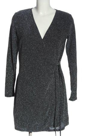 H&M Wickelkleid silberfarben Elegant