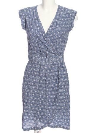 H&M Kopertowa sukienka niebieski-biały Na całej powierzchni W stylu casual