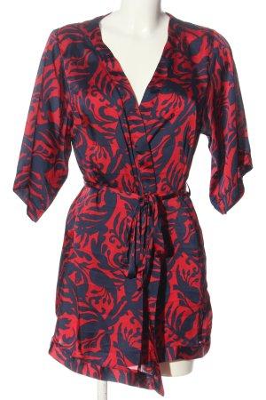 H&M Abito avvolgente rosso-blu motivo astratto stile casual