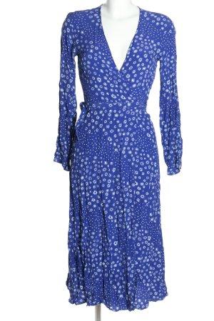 H&M Wickelkleid blau-weiß Allover-Druck Casual-Look