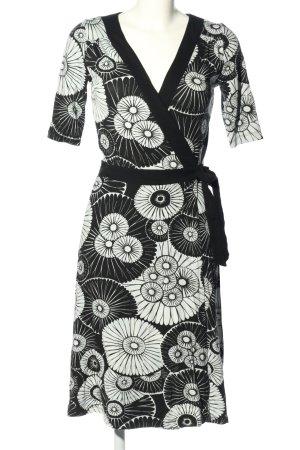H&M Wickelkleid schwarz-weiß Allover-Druck Casual-Look