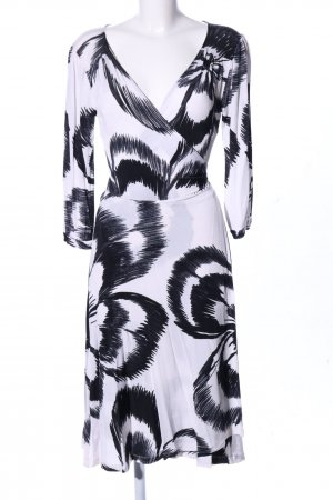 H&M Wraparound white-black flower pattern casual look