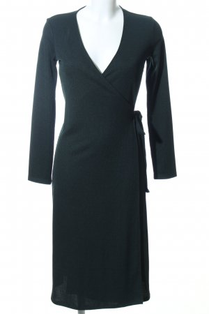 H&M Vestido cruzado negro estilo «business»