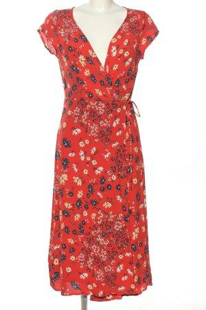 H&M Kopertowa sukienka czerwony-kremowy Na całej powierzchni W stylu casual