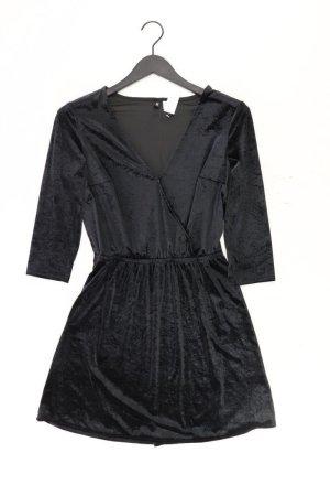 H&M Wickelkleid Größe 40 Langarm schwarz aus Polyester