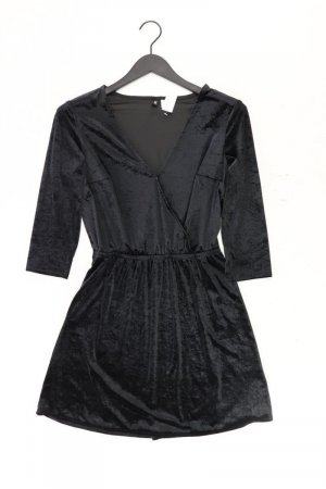 H&M Robe portefeuille noir polyester