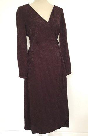 H&M Wickelkleid Kleid 40 braun geblümt