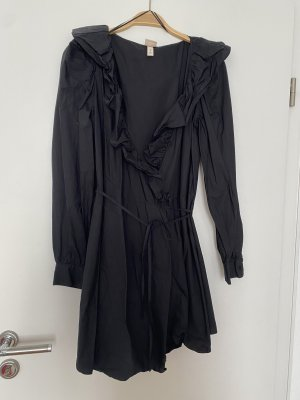 H&M Premium Robe portefeuille noir