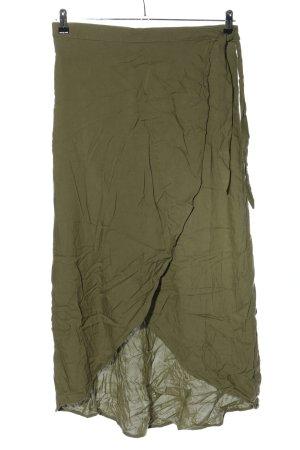 H&M Wraparound Skirt khaki casual look