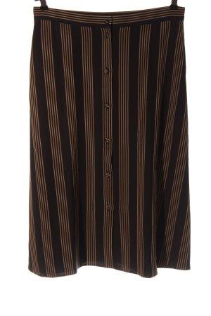 H&M Wickelrock schwarz-hellorange Streifenmuster Casual-Look
