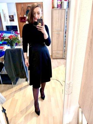 H&M Wraparound Skirt black