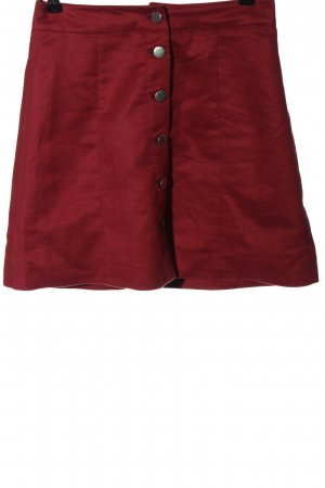 H&M Wraparound Skirt red casual look