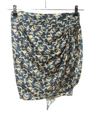 H&M Wickelrock blau-creme Allover-Druck Casual-Look