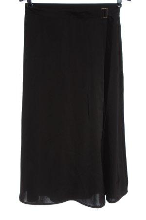 H&M Wraparound Skirt black casual look