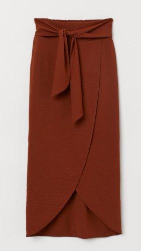 H&M Wraparound Skirt brown