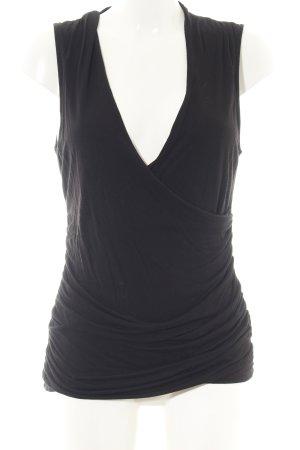 H&M Wickelshirt schwarz Elegant