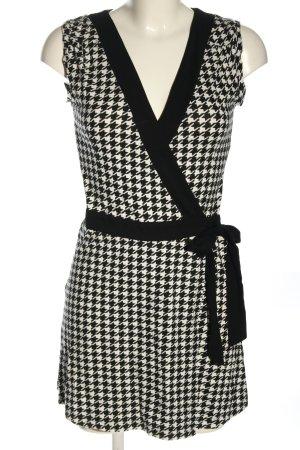 H&M Kopertowa sukienka czarny-biały Na całej powierzchni W stylu casual