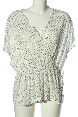 H&M Wraparound Shirt natural white-black allover print casual look
