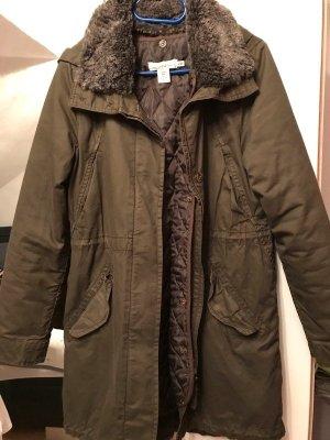 H&M Winter Parka Jacke Größe 36 Khaki